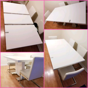 Family Extendable Modern Dining Table (Chairs are not included)