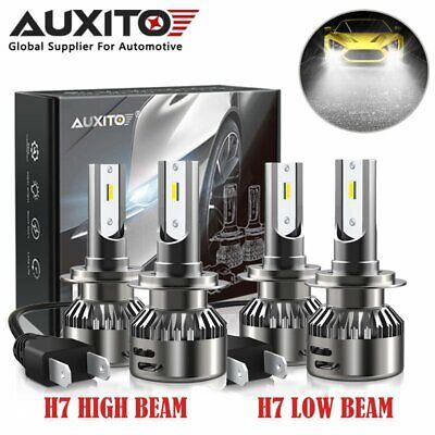 4x AUXITO Combo H7 Car LED Headlight Bulb High Low Beam Conversion Kit 6500K