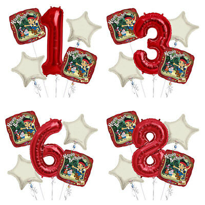 Jake and the neverland pirates 1-9 Birthday Balloon Bouquet 5 pcs Birthday Party - Jake The Pirate Birthday Party