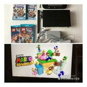 Nintendo Wii U + Mario 3D, 30 games, Lego Movie - 240$
