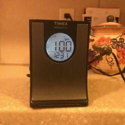 Timex T436B Digital Dual Alarm Clock Radio Indiglo Nightlight Time Projection