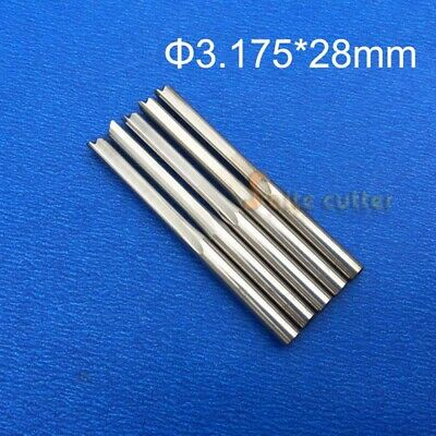 10pcs Double Flute Straight Slot Cnc Router Wood Bits Endmill Cutter 3.17528mm