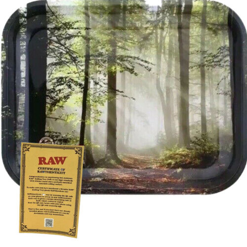 Authentic RAW FOREST Metal Rolling Tray Large (L 13.4 X W 10.9 X H 1.2)