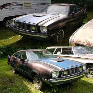 '76 Mustang Cobra II. Have TOD. No engine.
