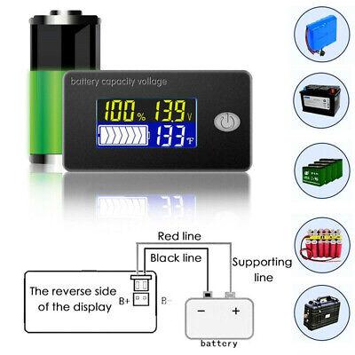 12v Lcd Digital Display Battery Capacity Meter Status Indicator Tester Monitor