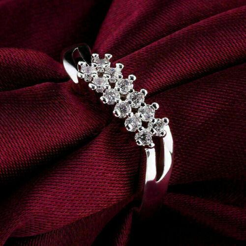 2.16 Ct Diamond Double Row Engagement & Wedding Split Shank Ring 14k White Gold