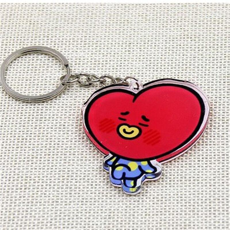 KPOP BTS Keyring Bangtan Boys Key Chain Love Yourself Acrylic J-HOPE V SUGA