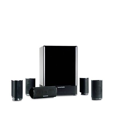 "Harman Kardon HKTS 15-Z 5.1 Home Theater Speaker System w/ 10"" 100W Subwoofer"