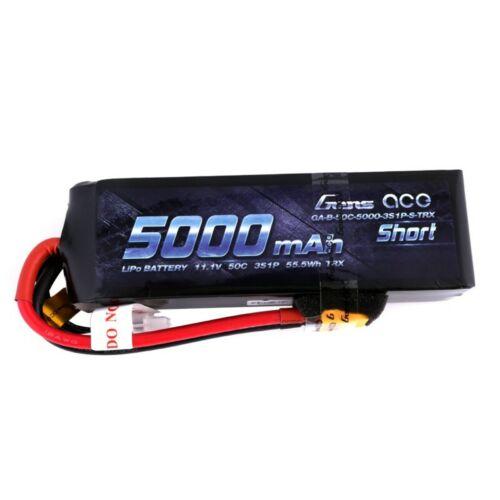 GENS ACE 5000MAH 3S 11.1 50C SHORT VERSION XT60 PLUG TRAXXAS