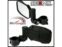"GREEN STRIKE Seizmik Break-Away Side Mirrors 2/"" UTV Rock Buggy Sand Rail"