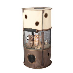 OUTAD Easy Tent Pop Up Tunnel Cat Tower 3 Level