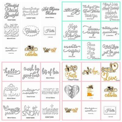 33 Styles Letters Metal Cutting Dies Stencil Scrapbooking Card Paper Embossing - Paper Embossing