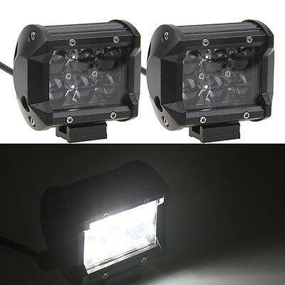 "2x 30W 4"" Cree LED Work Light Bar Flood Offroad 4WD UTE SUV Fog Driving Lamp"