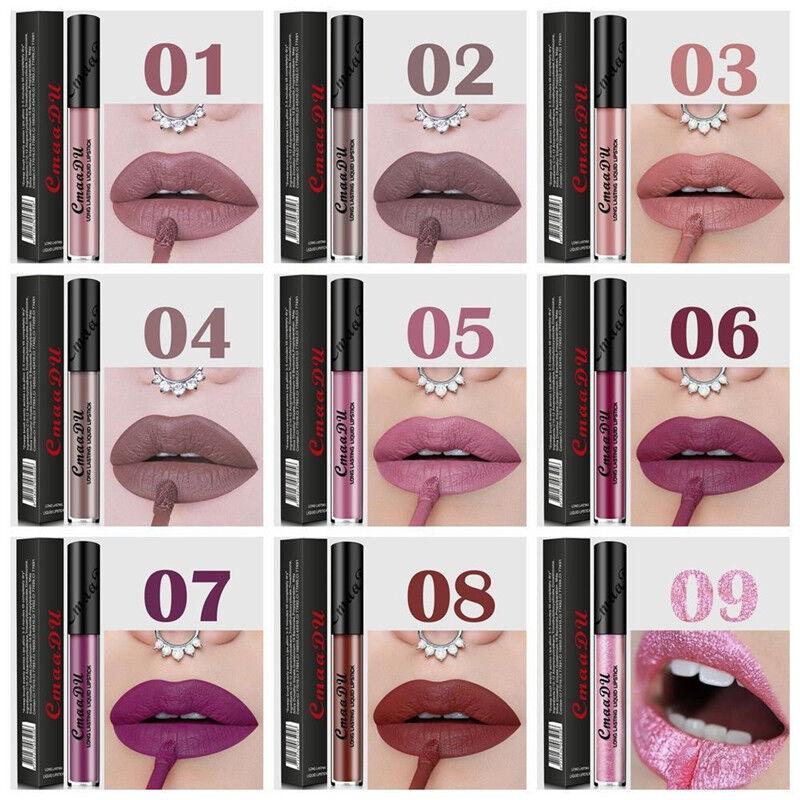 Long Lasting Waterproof Lip Liquid Pencil Matte Lipstick Lip Gloss Makeup Health & Beauty