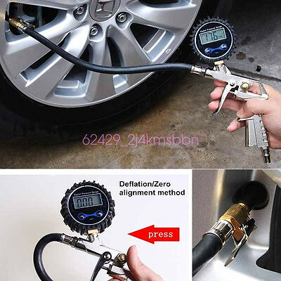 Tire Inflator With Digital Air Pressure Gauge Offroad Accessories Universal Car