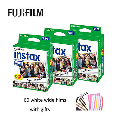 Used, 60 White Wide Sheets Fujifilm Fuji Instant Photos Film For 300 200 210 100 500AF for sale  Shipping to Canada
