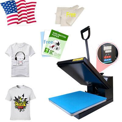 15x15 Digital Clamshell Diy T-shirt Heat Press Machine Sublimation Transfer Us