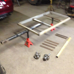trailer frame, axle, wheels and tires for ATV or lawn tractor