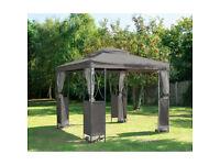 Luxury Steel Framed Gazebo - Grey - BRAND NEW! Marquee Garden Furniture