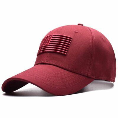 Fashion Unisex American Raised Flag Baseball Cap Women Men Soild Embroidered Hat