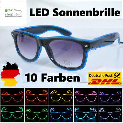 LED Brille Party Leuchten Sonnenbrille Jungesellenabschied Festival Rave EL NUE