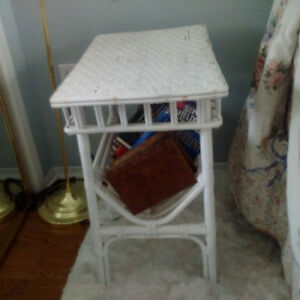 wicker coffee table, two end tables and book shelf Kingston Kingston Area image 2