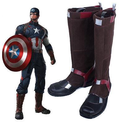 Captain America 3 Civil War Stiefel Schuhe shoes boots Kostüm Cosplay Scarpa Neu