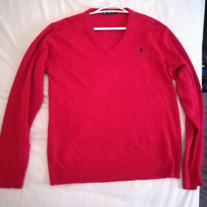 Slim Fit Cotton V-Neck Sweater Ralph Lauren