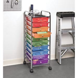 Rainbow 10 drawer set of drawers on wheels