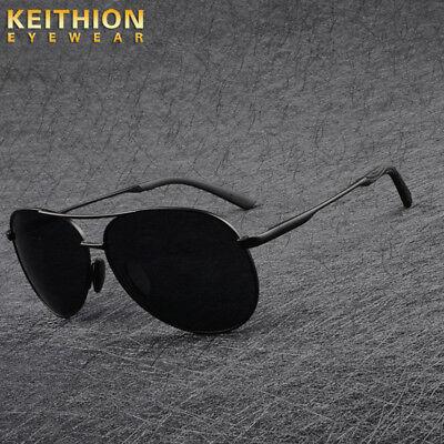 Polarized Sunglasses Mens Retro Metal Outdoor Drving Eyewear Spring legs Glasses ()