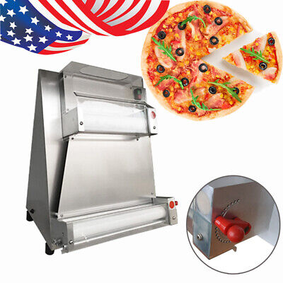 Us Auto Electric Pizza Bread Dough Rolling Roller Pizza Making Machine Safe 370w