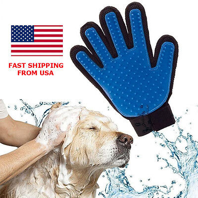 Deshedding Pet Dog Cat Grooming True Glove Hair Removal Brush Touch Massage