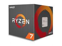 AMD Ryzen 1700 CPU computer processor chip, inc. cooler