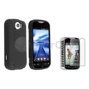 For HTC T-Mobile myTouch 4G Slide Black Hard Case Cover+LCD