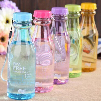 500ml BPA Free Leak Proof Sport Water Bottle Plastic Portable Unbreakable Bottle (Plastic Water Bottles)
