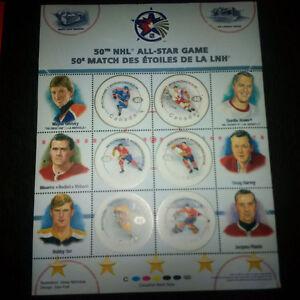 50th NHL All-Star Game Stamp Sheets (Gretzky/Orr/Howe/Richard)