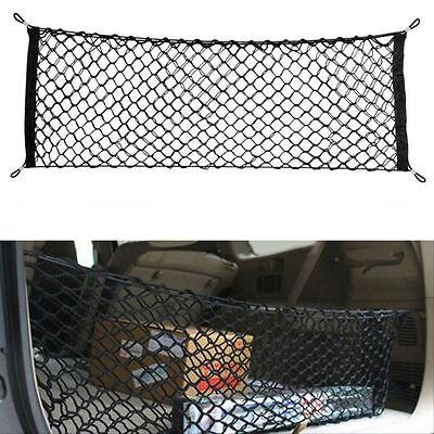Car Trunk Rear Cargo Organizer Storage Net Elastic Nylon Hammock Holder Mesh Kit