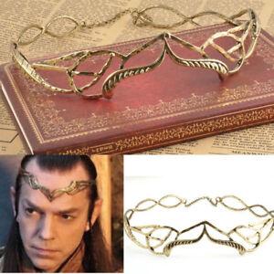 Elrond Crown headdress elven elf King lord of the rings Arwen head Hobbit leaf