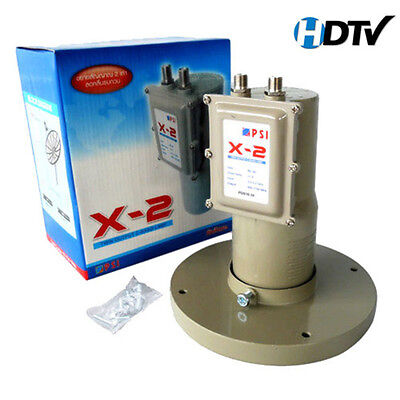 PSI C BAND SATELLITE DISH LNB LNBF DUAL OUTPUT PSI X-2 / SCALAR RING AND NUT SET, used for sale  Shipping to United States