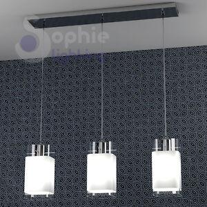 lampada lampadario sospensione 3 luci pendenti design