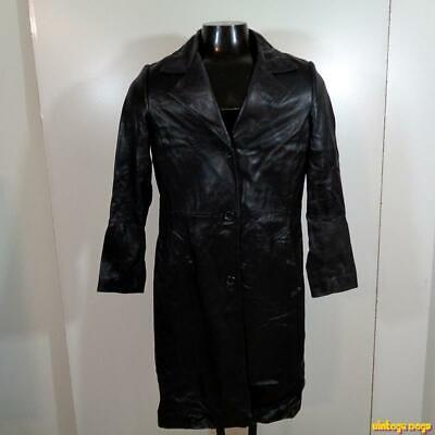PASHA & JO Soft Lambskin LEATHER Jacket Blazer Womens Size M Black