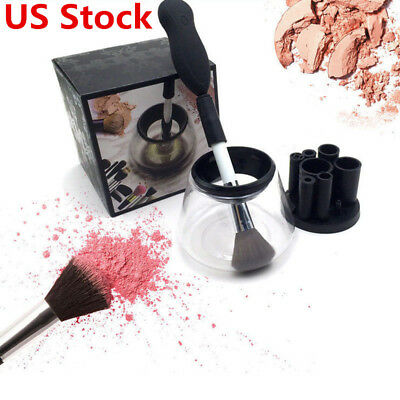 Electric Cosmetic Makeup Brush Cleaner Dryer Dry Kit Auto Cleaning Washing Tool~