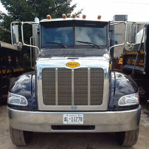 2014 Peterbilt 337 with swenson stainless steel salter