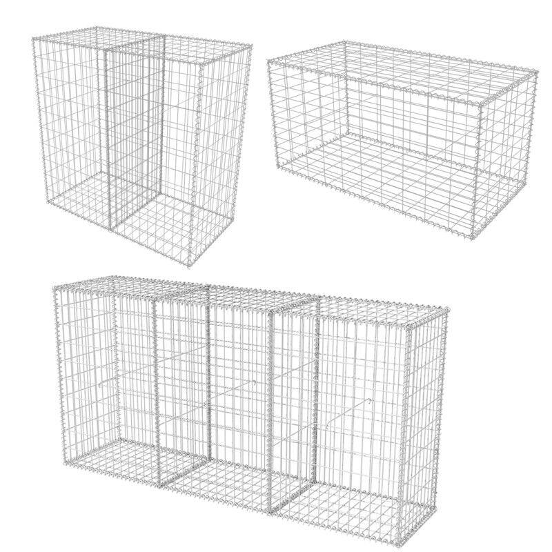 Gabion Basket Galvanised Steel Planter Steel Flower Wire Basket Stone Garden Bed