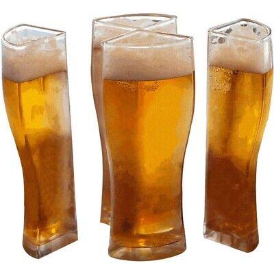 Set di Bicchieri da Birra Acrilici di 4, 4 nel 1 Bicchieri da Birra Diverte Z5K7