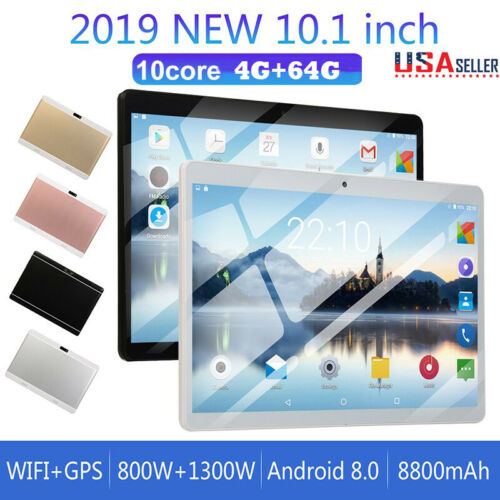 10.1'' Wifi 4G+64G Google Music Game Tablet PC Android 8.0 Q