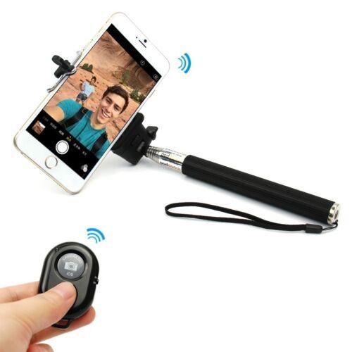 telescopic monopod selfie stick bluetooth shutter remote for iphone 4s 5 6. Black Bedroom Furniture Sets. Home Design Ideas