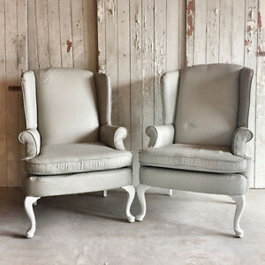 Painted Wingback Accent Chairs