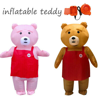 Teddy Bear Mascot Inflatable Costume for Adults Purim Christmas Carnaval Cosplay - Adult Teddy Bear Costume