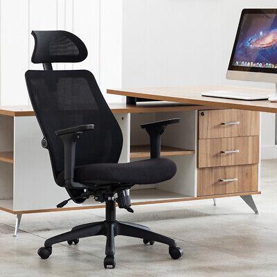 Ergonomic Computer Office Chair Heavy Duty Lumbar Support High-back Swivel